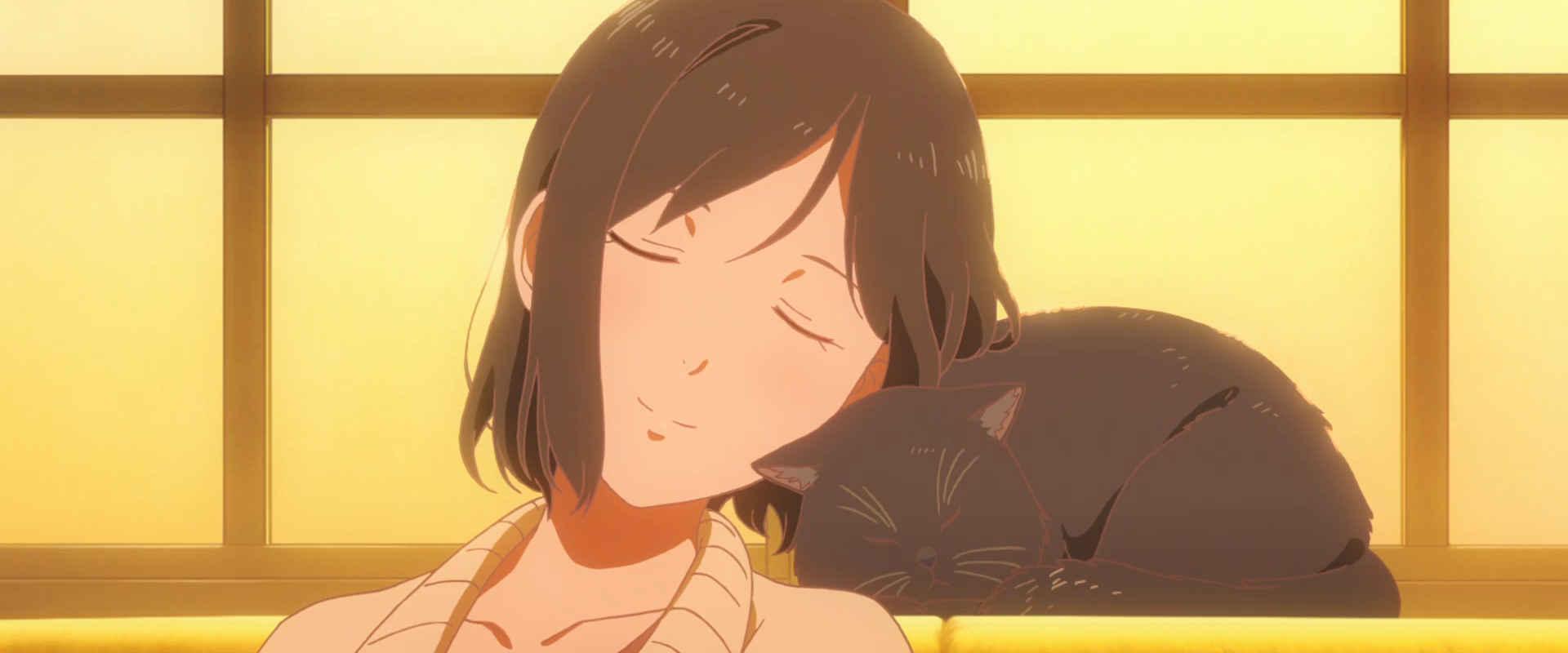 彼女と彼女の猫 夕焼け