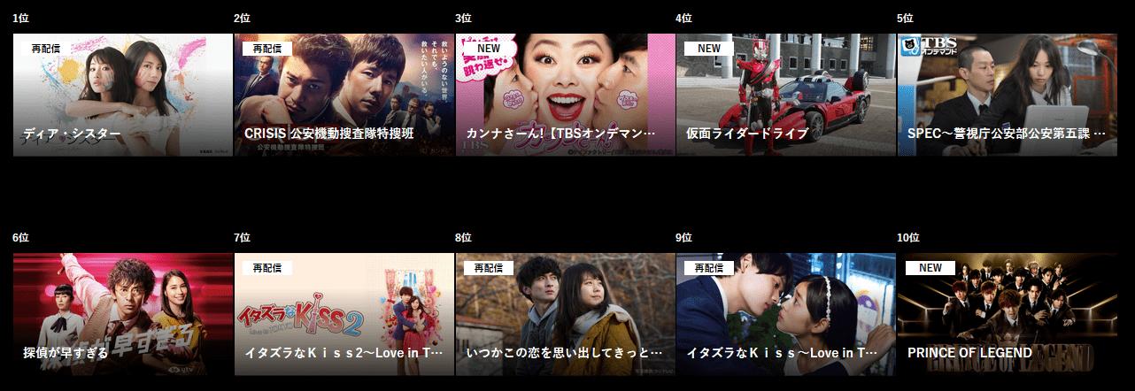 dTV 国内ドラマ
