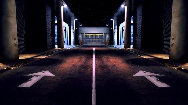 空港の倉庫