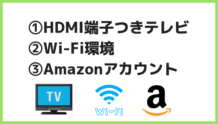 Fire TV Stick利用条件