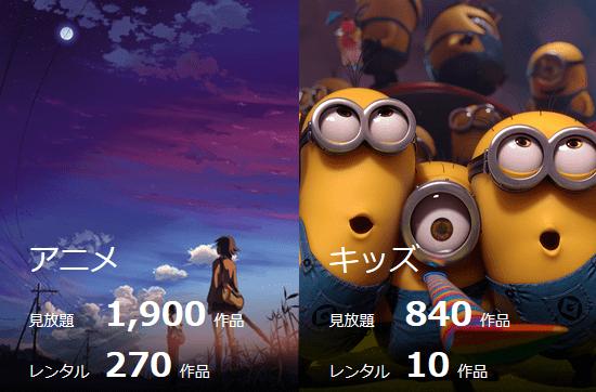 U-NEXTのアニメ