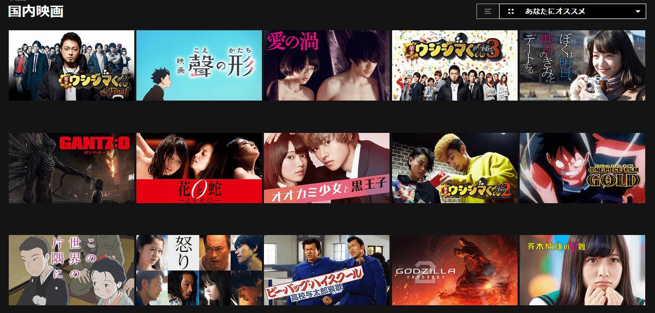Netflixの国内映画