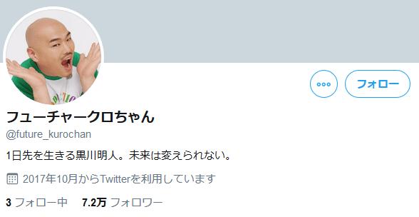 フューチャークロちゃんのアカウント