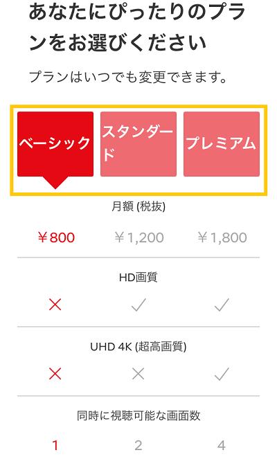 Netflix登録方法③